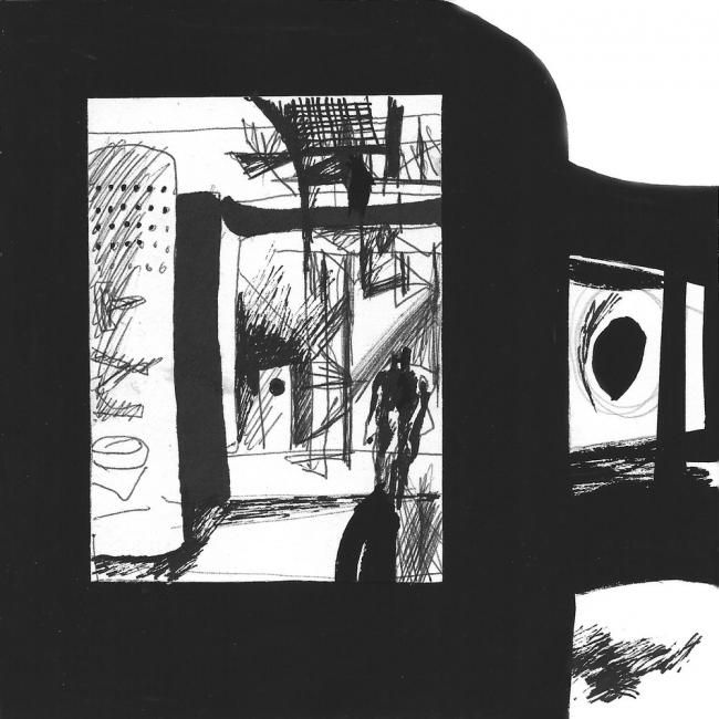 Серия «Пространство Музея геологии». Победитель в номинации «Рисунок к проекту», 37 голосов© Роман Фаерштейн