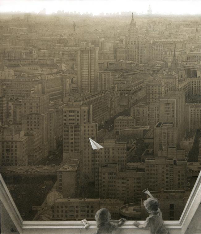 Самолетик над городом. Special mention, 97 голосов © Анастасия Кузнецова-Руф