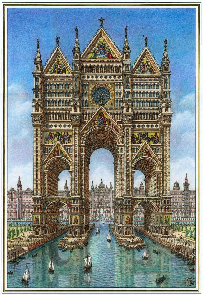 Серия «Образы идеальных городов». Special mention, 100 голосов © Артур Скижали-Вейс