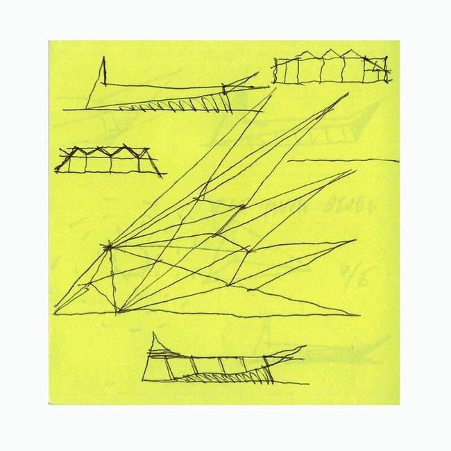 Abu Dhabi Guggenheim Biennale Park Pavilion, 2007. 5 зрительских голосов в номинации Рисунок для проекта © Юрий Аввакумов