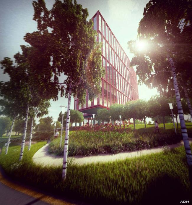 Офисный центр на Нахимовском проспекте. Вид со стороны Сивашской улицы © ADM
