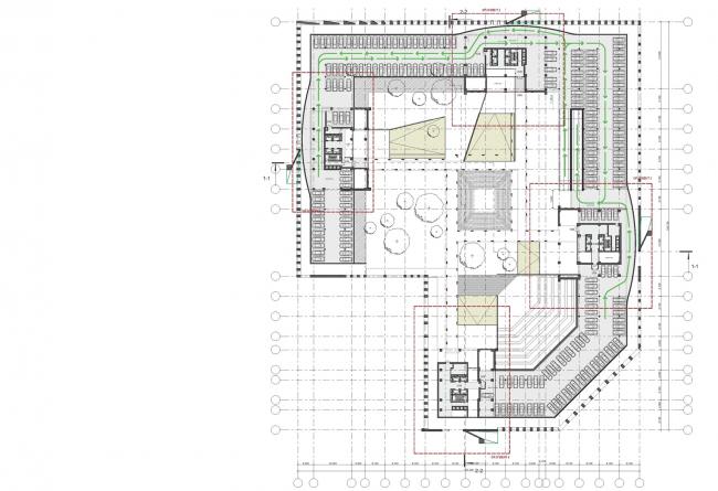 Концепция жилого комплекса на Рублевском шоссе. План 2 этажа © «Сергей Скуратов ARCHITECTS»