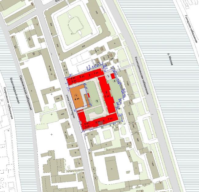 """Wine House"" residential complex. Location plan. TPO Reserve, SPEECH"