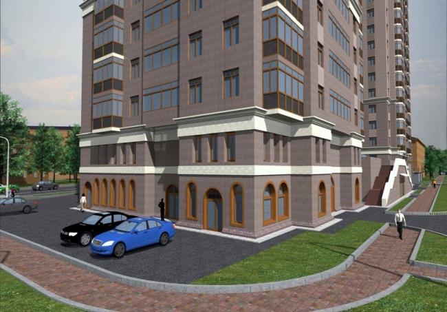 Жилой дом и гостиница на ул. 2-я Синичкина, вл.1, 1 «А» © «СпецПроект»