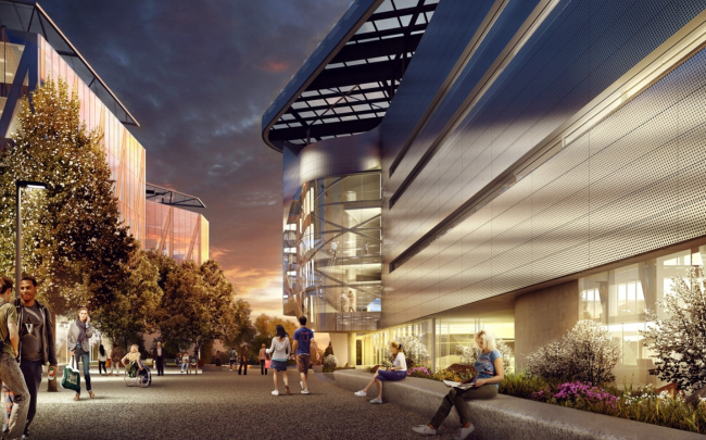 Кампус Корнельского университета на острове Рузвельта © Kilograph