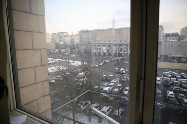 Вид на Триумфальную площадь из здания Москомархитектуры. Фото предоставлено пресс-службой Москомархитектуры