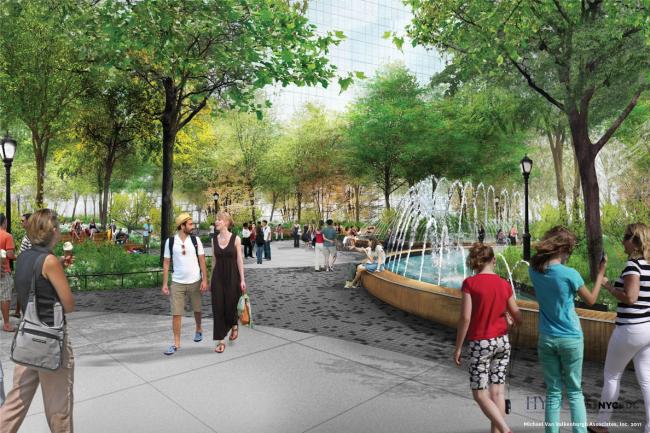 Гудзон-парк и бульвар © Michael Van Valkenburgh Associates