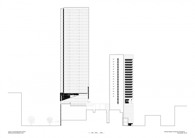 Комплекс Reforma Towers © Richard Meier & Partners