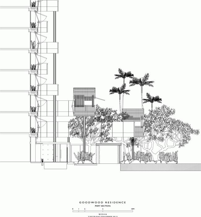 Жилой комплекс Goodwood Residence © WOHA