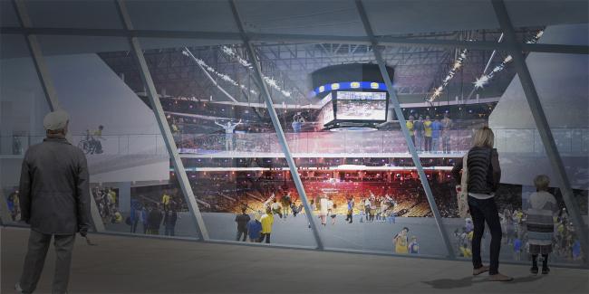 Баскетбольный стадион Golden State Warriors © Snøhetta