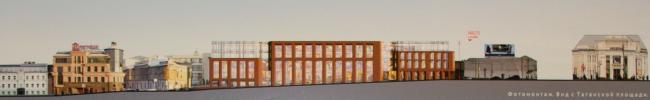Многофункциональный торговый комплекс на Земляном валу, вл.77-79 в районе Таганской площади. Заказчик – ООО «Стройинвест». Автор – Алексей Гинзбург, «Гинзбург Архитектс»