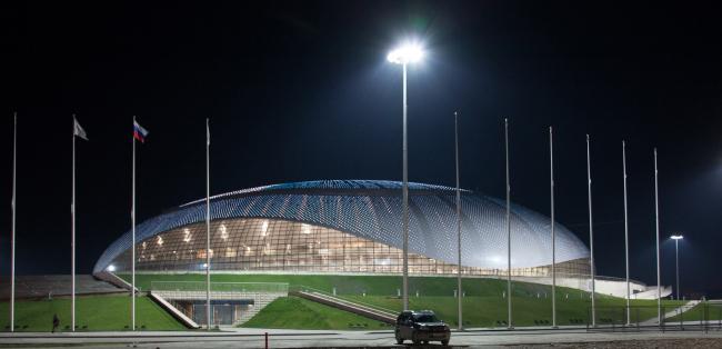 Большой ледовый дворец в Сочи. Фотография предоставлена НПО «Мостовик»