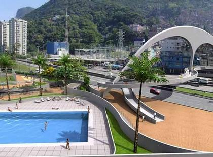 Оскар Нимейер. Проект пешеходного моста. Рио-де-Жанейро