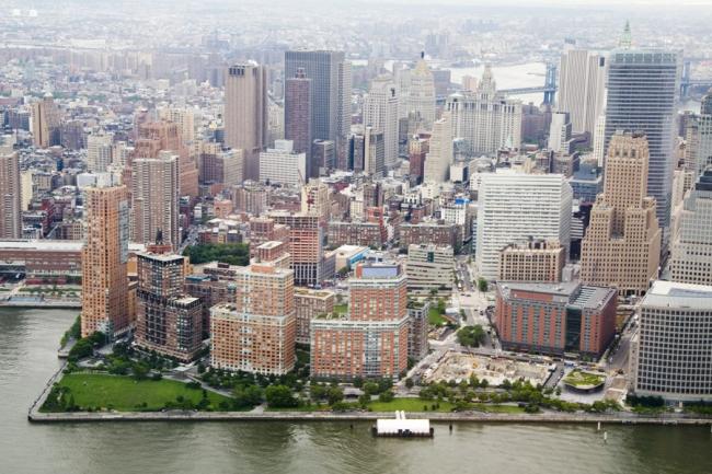 Бэттери-Парк-сити на Манхэттене - один из положительных примеров в книге Рыбчинского