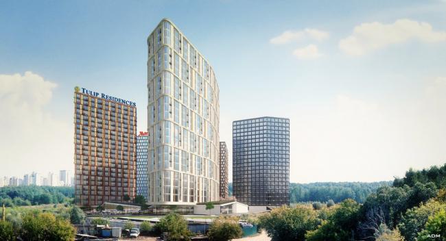 Гостинично-офисный комплекс, ул. Никулинская, вл. 11Г © ADM Architects