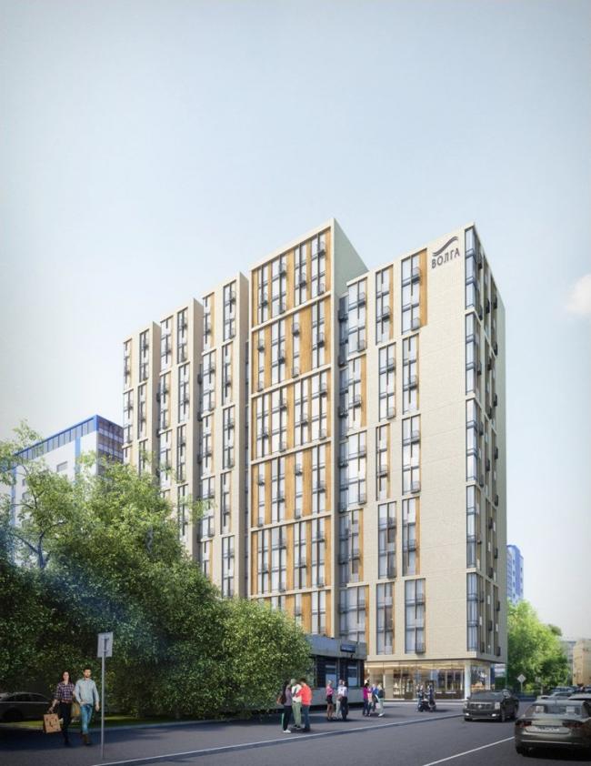 Многоэтажная пристройка к гостиничному комплексу «Волга», ул. Б. Спасская, вл. 4 стр. 1 © ADM Architects