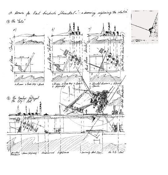 Конкурсный проект «Дома для К.Ф. Шинкеля» для японского «бумажного» конкурса. 1979. Судил работы Джеймс Стерлинг