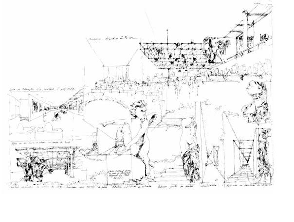 Конкурсный проект «Дома искусств» – Культурного центра S.E.C. в Порту. 1981 (реализован в 1991)