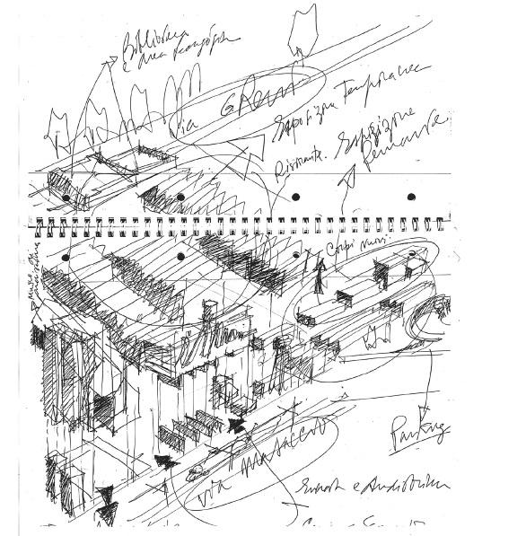 Конкурсный проект Центра современного искусства (Музей MAXXI) в Риме. 1998