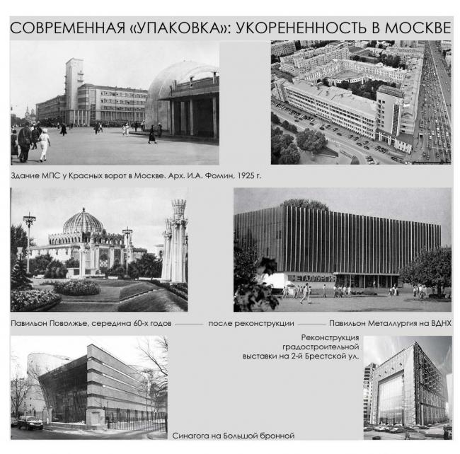 Современная «упаковка». Московский опыт. Материалы предоставлены  бюро «Четвертое измерение»