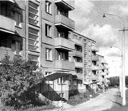Рис. 7. Пример устройства консольных балконов. Рядовая застройка жилого района. Г. Талин, Эстония.