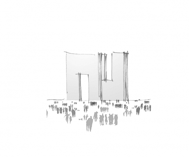 Конкурсный проект жилого комплекса на Рублевском шоссе © ТПО «Резерв»