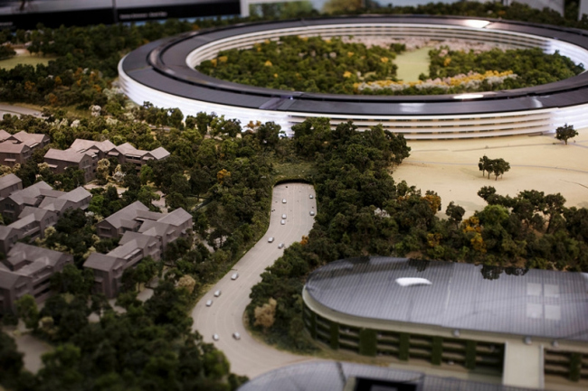 Apple Park – кампус компании Apple. Макет © Dai Sugano / Bay Area News Group