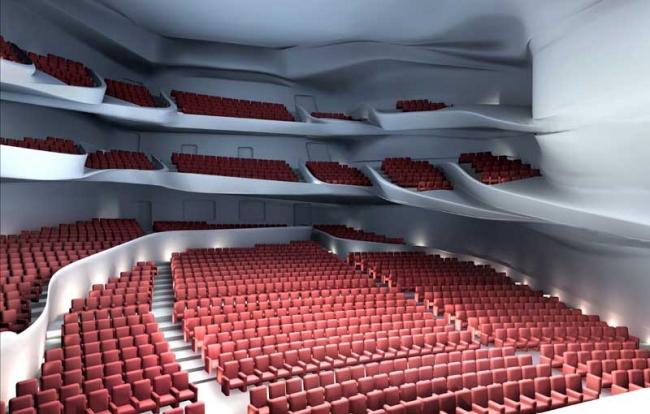 Оперный театр в Гуанчжоу (с) Zaha Hadid Architects