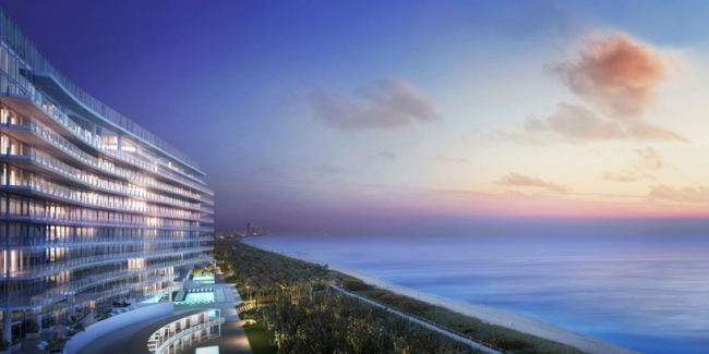 Комплекс The Surf Club Hotel and Residences © Richard Meier & Partners