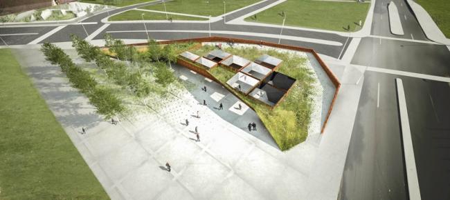 Проект команды Saucier © National Holocaust Monument Development Council