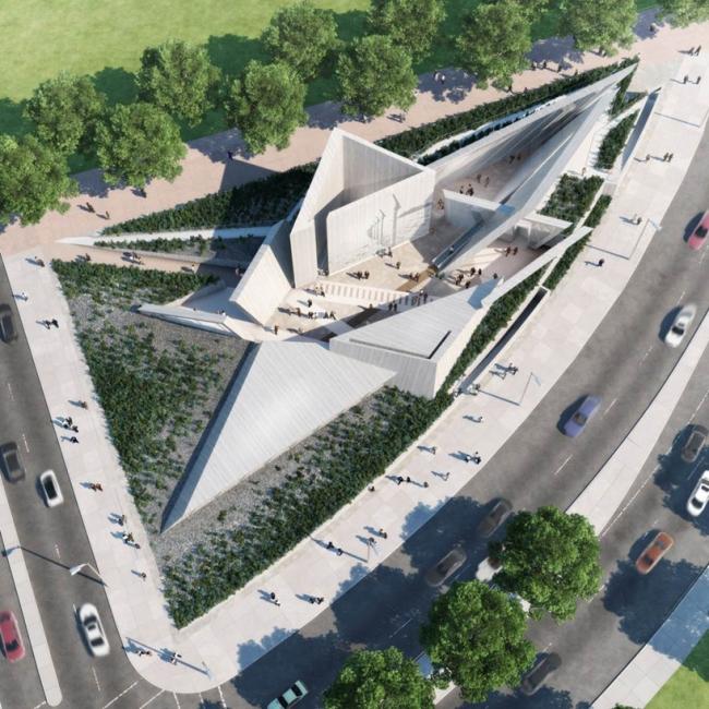 Проект команды Lord © National Holocaust Monument Development Council