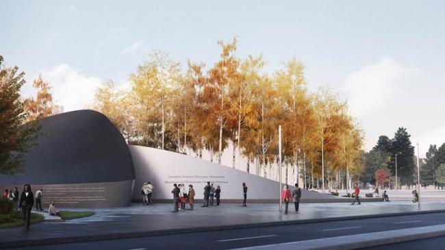 Проект команды Klein © National Holocaust Monument Development Council