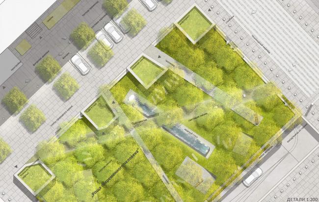 «Роща современного человека» / Концепция благоустройства Триумфальной площади. «ST rauma. Ландшафтная архитектура»