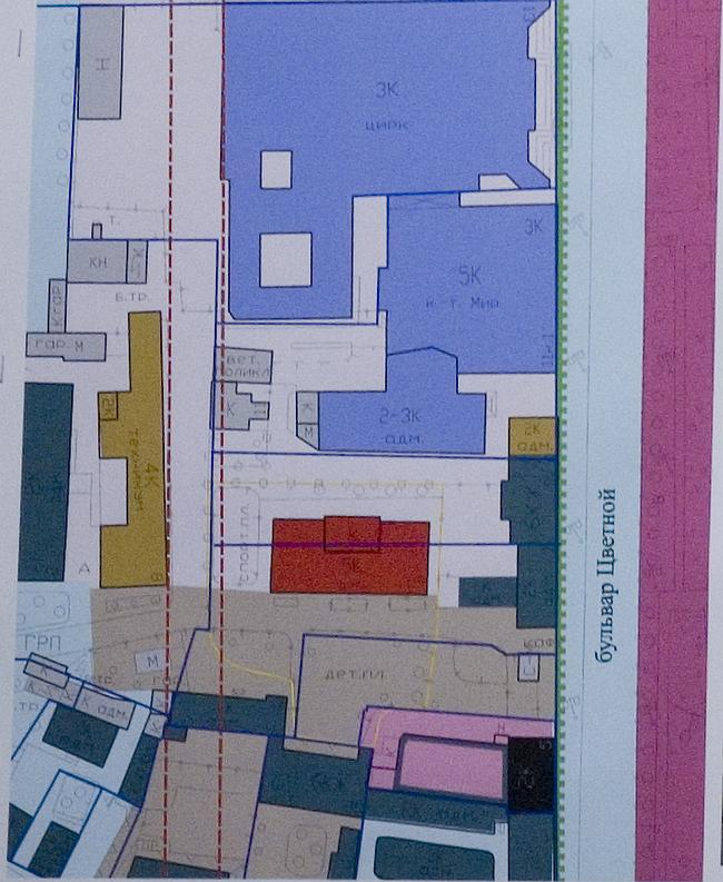 Предпроектное предложение строительства нового здания школы № 189 на месте сноса существующей школы по адресу: Цветной бульвар, д. 7/9. Институт «Моспромпроект», мастерская № 12