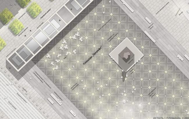 «Площадь Триумфа» / Концепция благоустройства Триумфальной площади. «ST rauma. Ландшафтная архитектура»