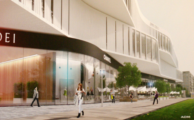 Проект гостинично-торгового комплекса на Ленинском проспекте, вл. 38 / ADM architects