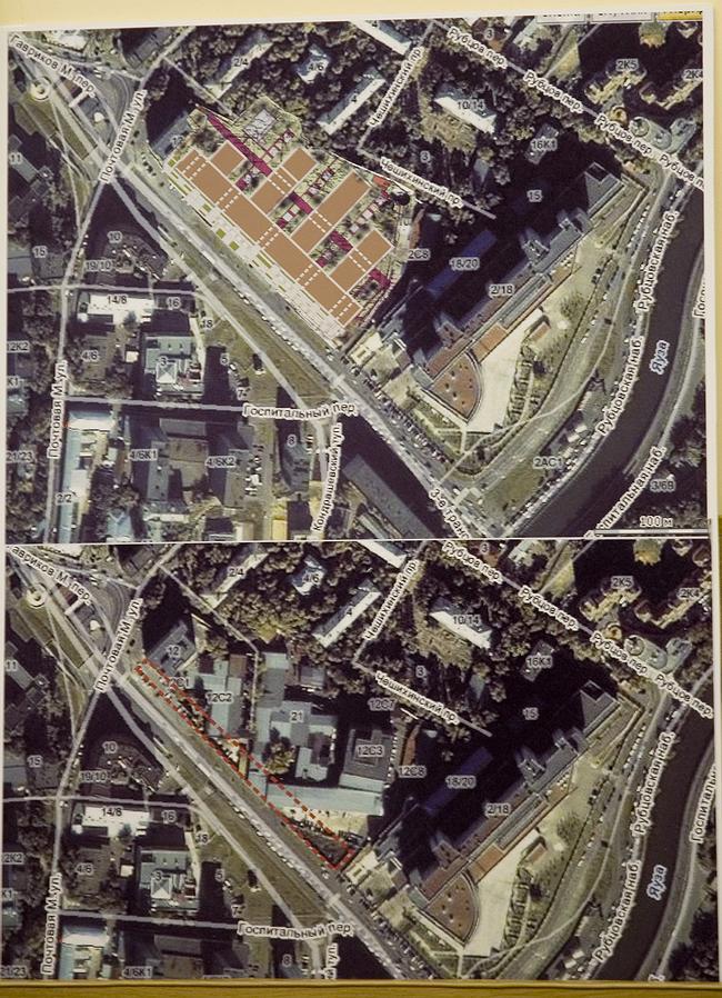Предпроектное предложение строительства многофункционального бизнес-комплекса по адресу: ул. м. Почтовая, вл. 12.