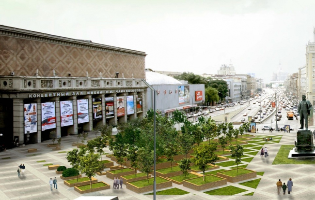 Концепция благоустройства Триумфальной площади © Архитектурное бюро Асадова