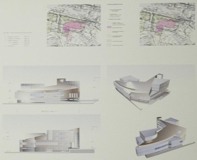 Корректировка пред проектного предложения строительства административного здания по адресу: ул. Новорязанская, д. 38, стр. 2 (новый вариант)