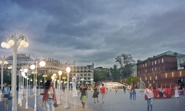 Концепция реорганизации площади Революции © Wowhaus