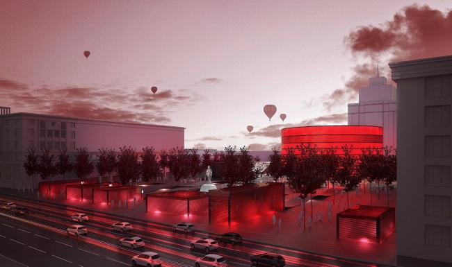 Концепция благоустройства Триумфальной площади © Maxime Busato Architecture