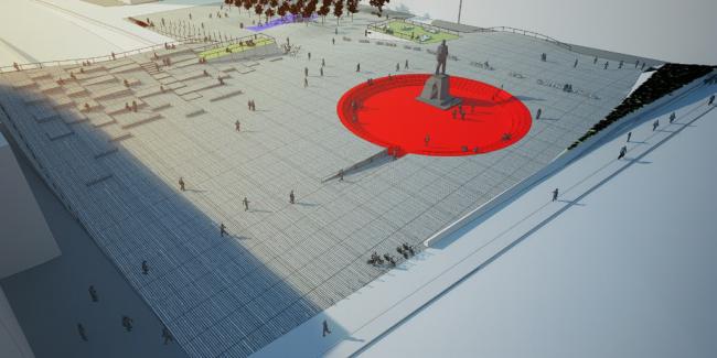 Концепция благоустройства Триумфальной площади © Творческая Мастерская Братьев Гараниных