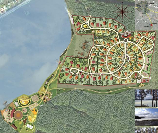 Поселок «Дома Адажио», Свердловская область © «Архстройдизайн АСД»