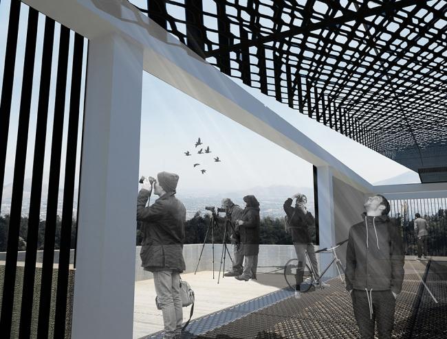 Поощрительный приз в конкурсе на проект Телебашни в Сантьяго. © Ruizsolar