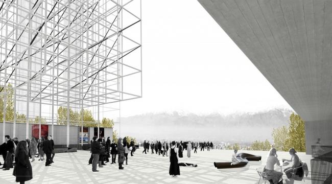 Поощрительный приз в конкурсе на проект Телебашни в Сантьяго. © Soza Atanacio + Aguirre Castro Arquitectos