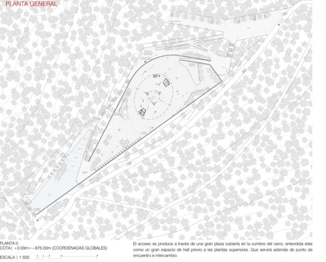 Поощрительный приз в конкурсе на проект Телебашни в Сантьяго. GmasP + Saez Joannon Arquitectos Иллюстрация: www.Minvu.cl