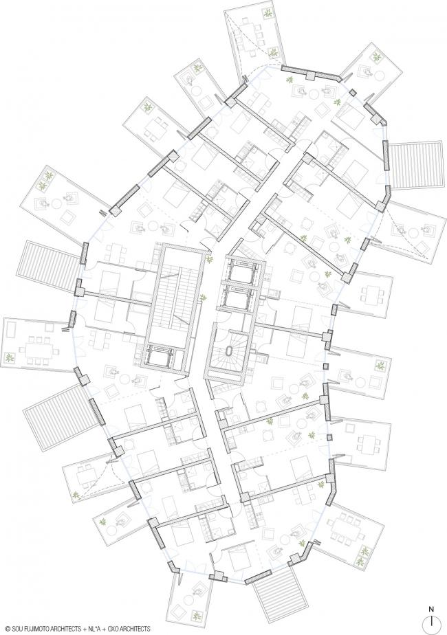 Башня Arbre Blanc © Sou Fujimoto Architects, Nicolas Laisné Associés, Manal Rachdi Oxo Architectes