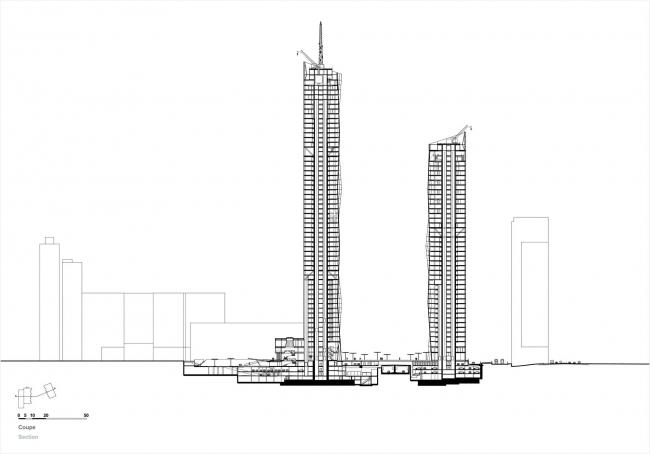 Башня DC 1 © Dominique Perrault Architecture