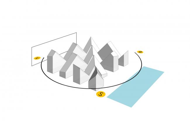 Жилой комплекс «Айсберг» © CEBRA + JDS + SeARCH