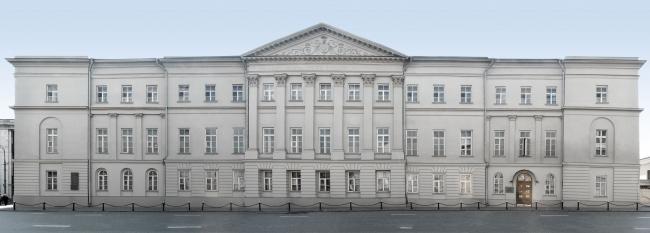 Главный фасад Музея Архитектуры © ГНИМА им А.В.Щусева